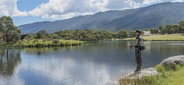 Fishing at Lake Crackenback Resort