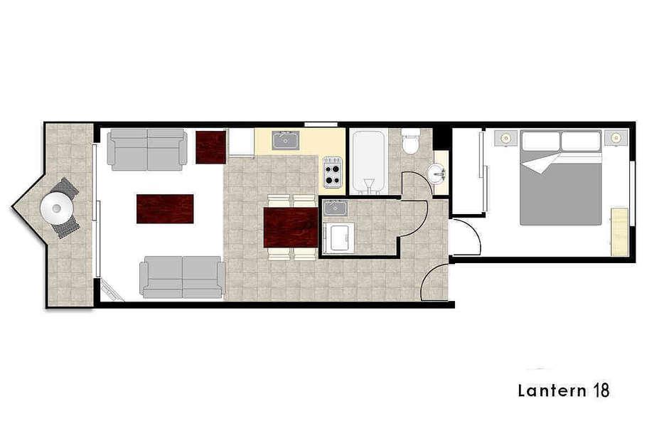 Lantern 18, 1 Bedroom Apartment with Balcony