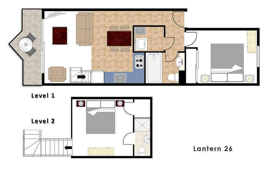 Lantern 26, 1 Bedroom and Loft Apartment