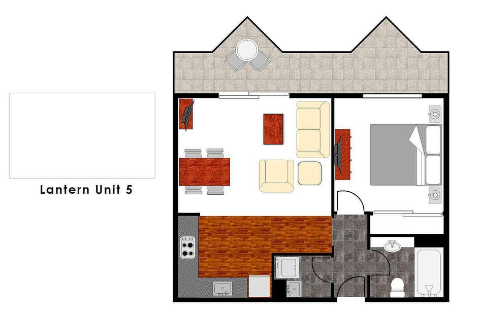 Lantern 5, 1 Bedroom Apartment with Balcony