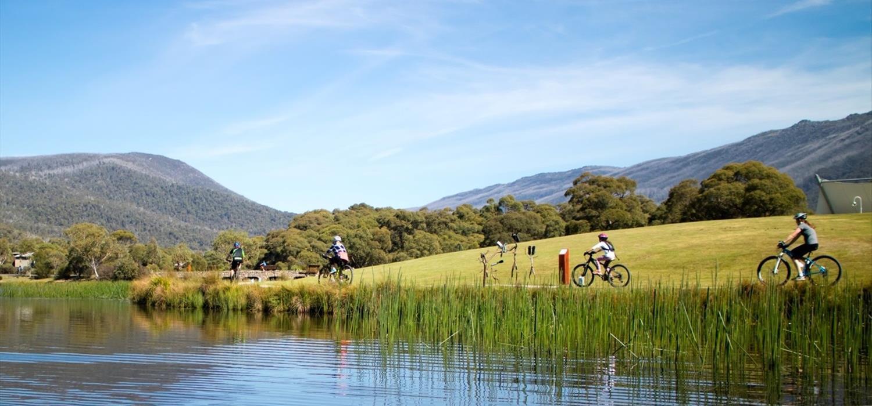 Bike Riding at Lake Crackenback Resort